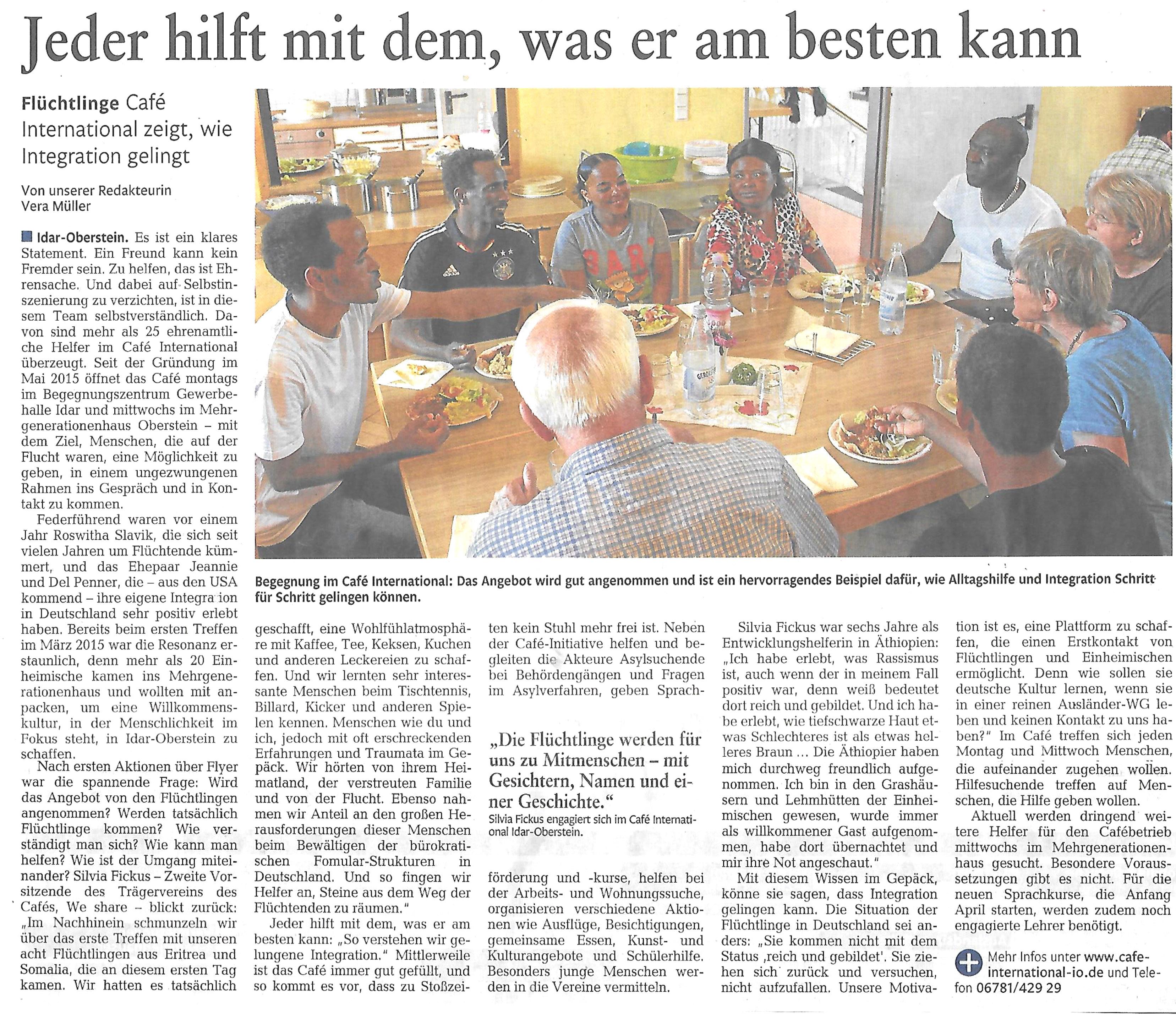 Nahe Zeitung 16.03