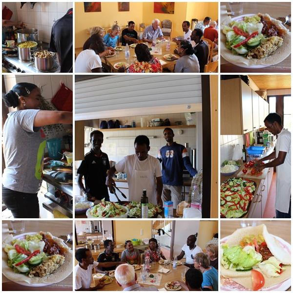 03.08.15 Flüchtlinge kochen für Helfer